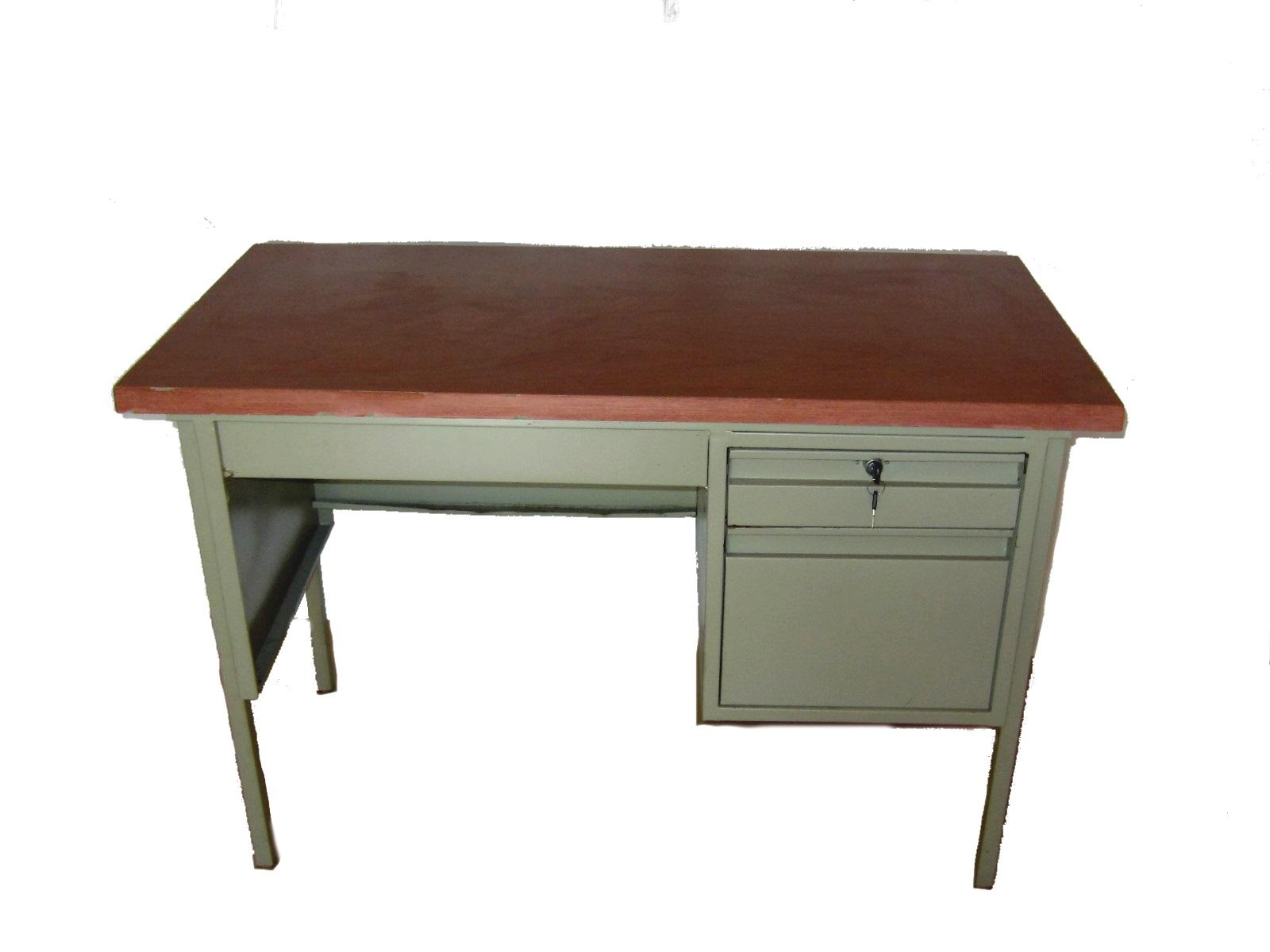 Escritorio secretarial metalico c 2 cajones 120x60x75 schoolboy - Escritorio metalico ...